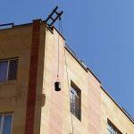 انتقال قیر برای قیرگونی به پشت بام